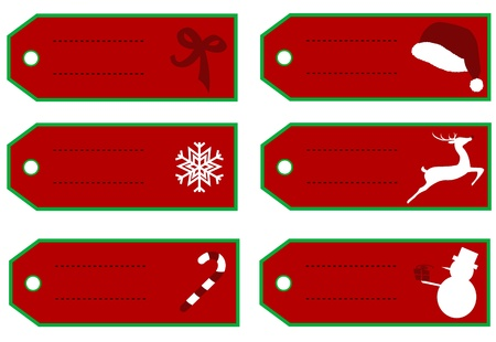 Christmas tags to label your gifts Vector