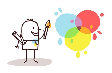 예술가 화가와 색채
