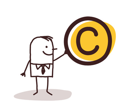 copyright: Man Holding a Copyright Symbol
