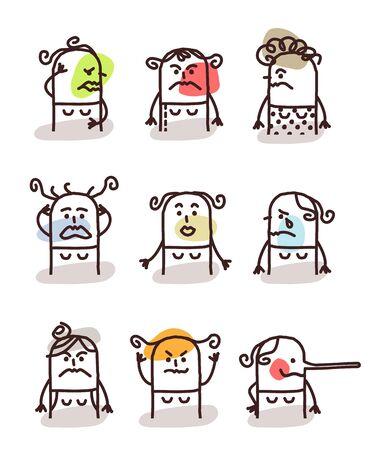set di sesso femminile avatar dei cartoni animati - malumori