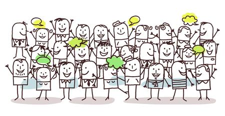 grupos de personas: multitud y la felicidad Foto de archivo