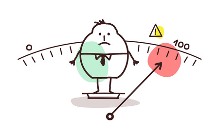 cartoon overweight man