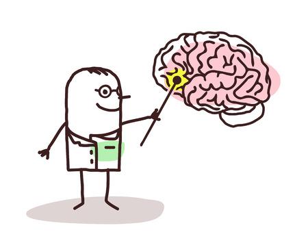 두뇌와 만화 신경 학자