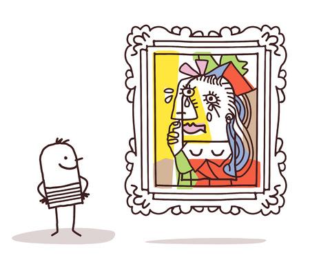 Homme en regardant une imitation Pablo Banque d'images - 52578605