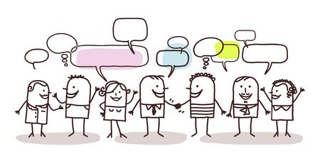 människor och sociala nätverk