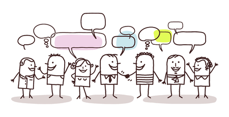 personas comunicandose: personas y red social Foto de archivo