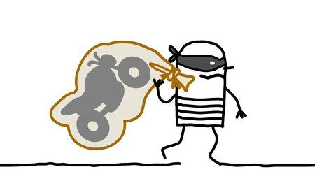 delincuencia: Dé los personajes de dibujos animados -