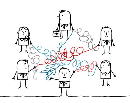 hombres ejecutivos: la gente de negocios de dibujos animados desconectado
