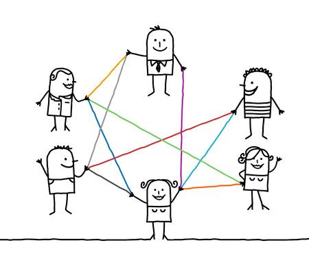 漫画に接続された人々