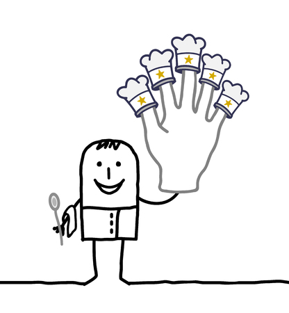 cook cartoon: cartoon chef cook with big hand