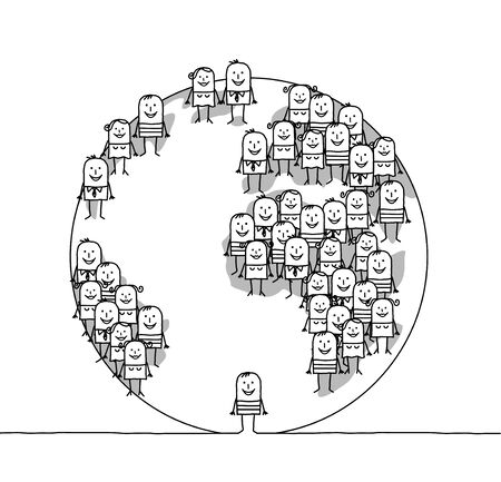 demografia: Los dibujos animados de la Tierra