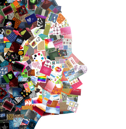 creative pictures: Woman collage made with a lot of small pictures