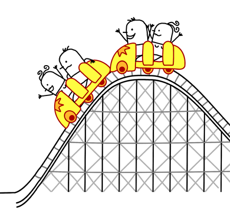 people on roller coaster Banque d'images