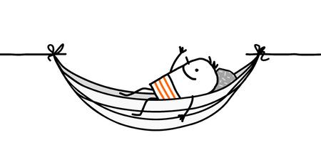 man in a hammock