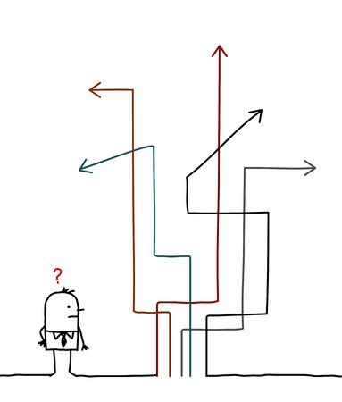 hand drawn cartoon characters - where do i go ?