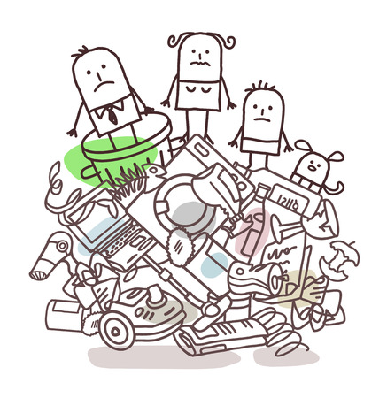 waste heap: family on a pile of garbage
