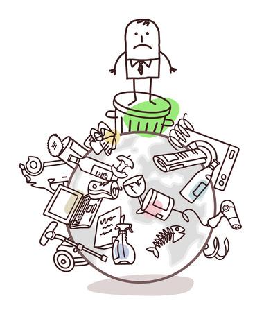 mundo contaminado: hombre de negocios en un mundo contaminado