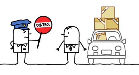 cartoon characters - police control - packs