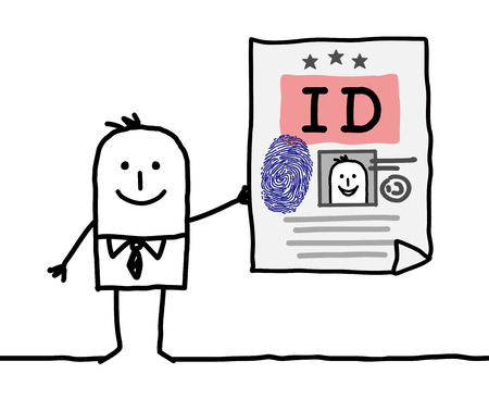 drawing paper: cartoon character - identity card