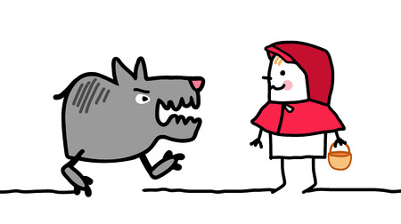 cartoon little red riding hood: cartoon characters - little red riding hood