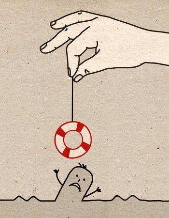 mutual help: Big hand - rescue