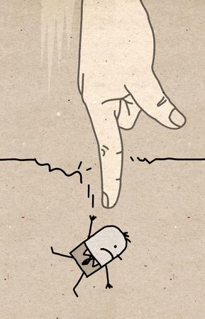 desprecio: Gran mano - caer
