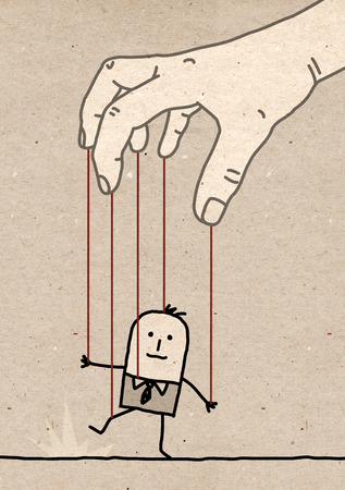 enlist: Big hand - puppet Stock Photo