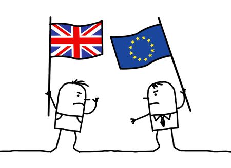 political party: Cartoon people - English and European