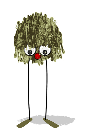 Mud monster - textured character