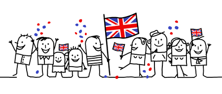 Cartoon people - national english day