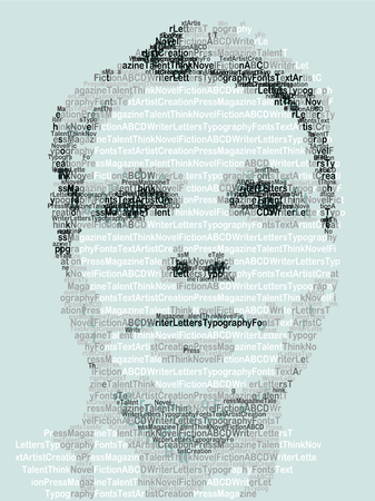 Human Portrait made with Letters
