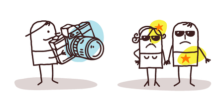 Cartoon Paparazzi and Star People