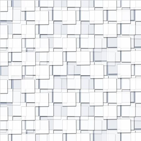 Abstract Background with Cubic White Blocks