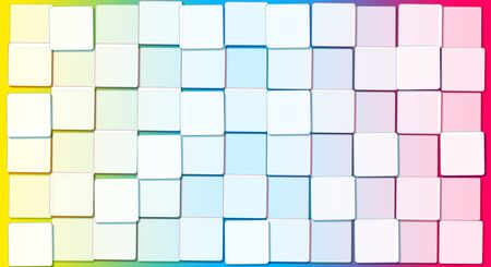 Abstract Background with Cubic Rainbow Blocks Stock Photo