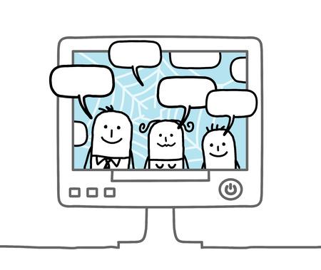 Cartoon family and social network