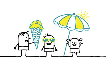 Cartoon kids and summer time Stok Fotoğraf - 120080398
