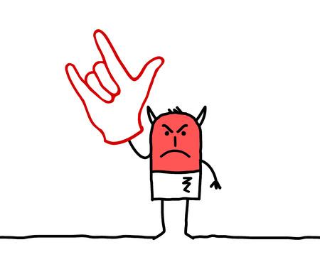 Cartoon Devil hand sign Stok Fotoğraf - 120080438