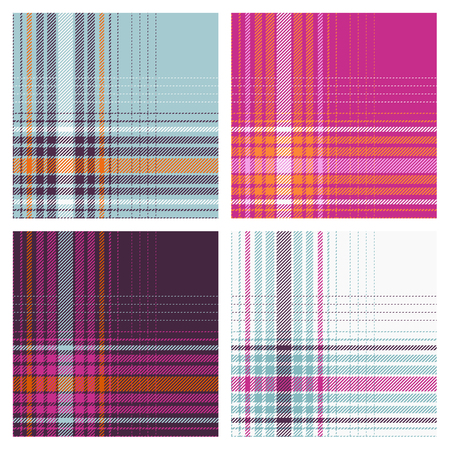 vector seamless checked patterns Illustration