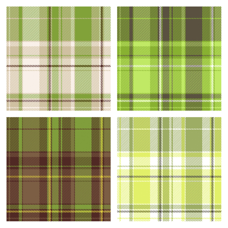 vector seamless checked patterns Stock Illustratie