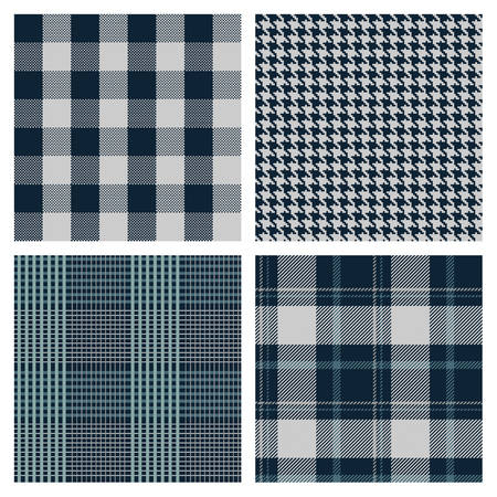 vector seamless checked patterns Illusztráció