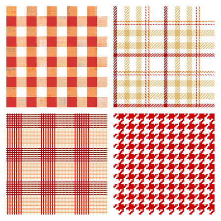 vector seamless checked patterns Stok Fotoğraf - 120080504