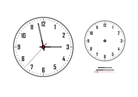 clock with white clockface isolated image