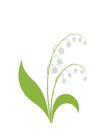 lily of the valley flower. spring flower design element. isolated vector image