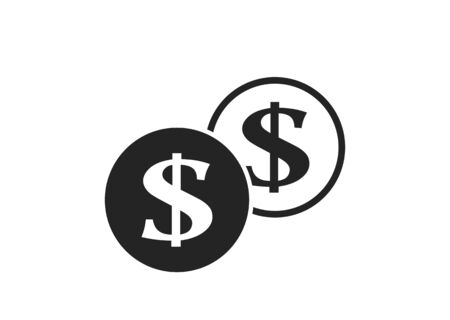 dollar coins icon. finance and money symbol. simple style infographic design element
