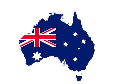 Australia flag map icon. concept national symbol  illustration design, vector image