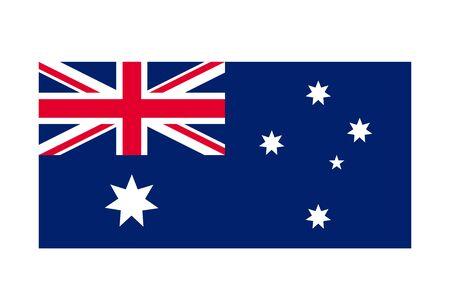 Australia flag vector image. illustration design, national symbol of southern hemisphere country