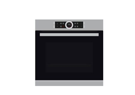single electric wall oven isolated vector image of kitchen electrical equipment Ilustração Vetorial