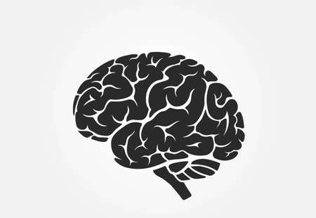 brain icon, side view.