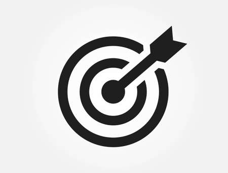goal icon. arrow and target symbol. infographic element and symbol for web design