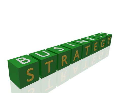 Business Strategy on 3D cubes.